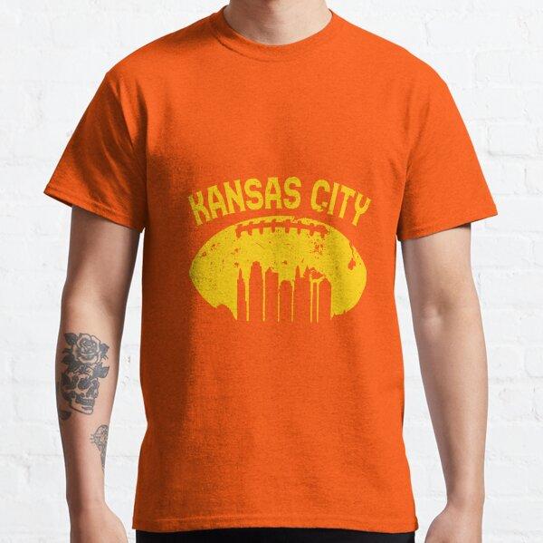 Vintage Kansas City Cityscape Retro Football Graphic T-Shirt  Classic T-Shirt