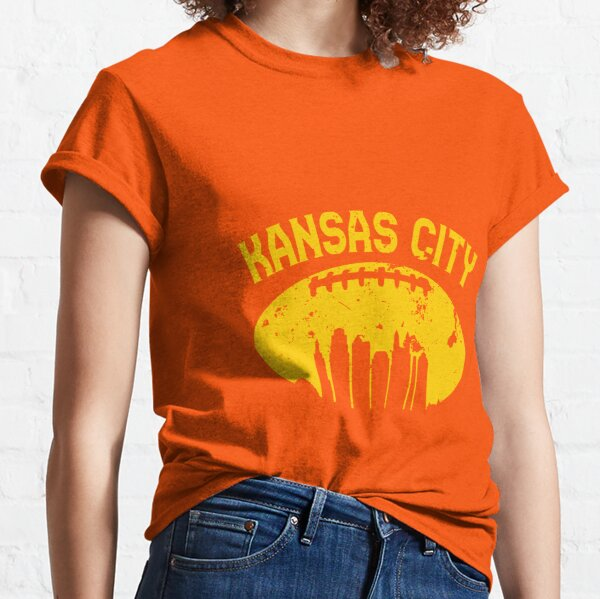 Vintage Kansas City Cityscape Retro Football Graphic T-Shirt  Classic T-Shirt