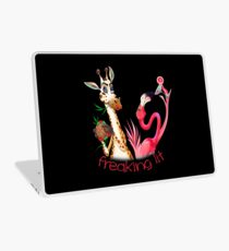 Party Time Freaking Lit Giraffe and Flamingo  Laptop Skin