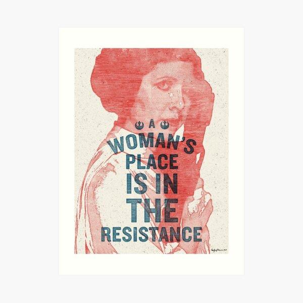 Der Platz einer Frau ist im Widerstand Kunstdruck
