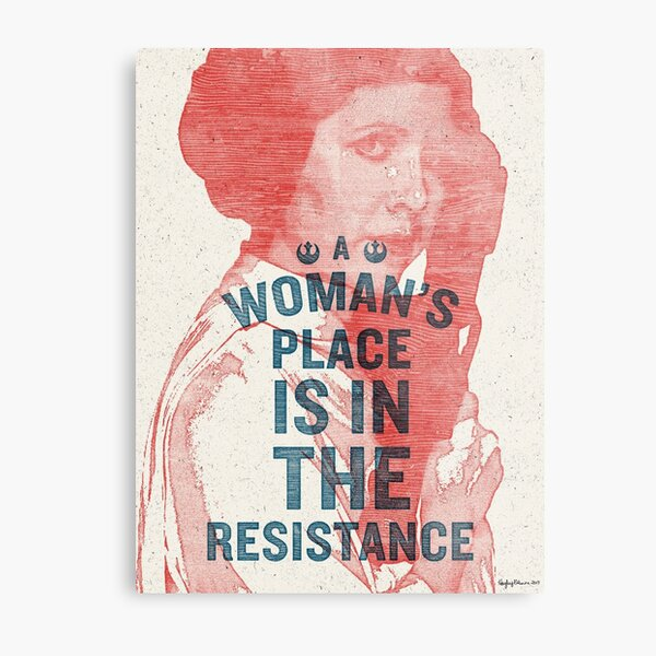 A Woman's Place is in the Resistance Metal Print