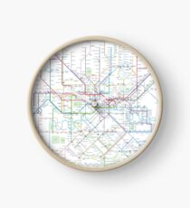 London Underground Map Clock