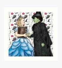 Wicked - 15th Anniversary Glinda & Elphie Art Print