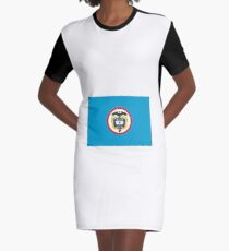 Naval Jack of Colombia Graphic T-Shirt Dress