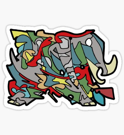 Warp Elephant Sticker