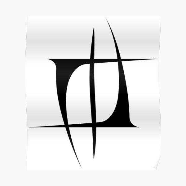 Nuno Tattoo Mourning Widows Black Colour Logo Emblem Poster