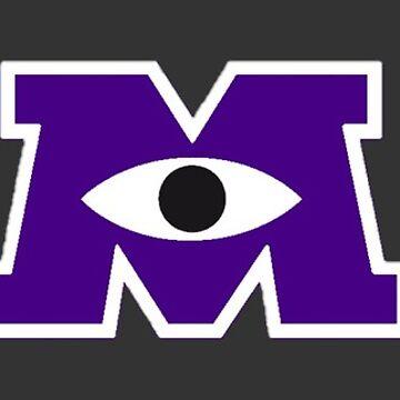 JMU / Monsters University Parody Logo - Purple by obiwayne