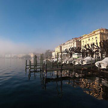 Lake shore at Lugano, Ticino, Switzerland by mhowellsmead