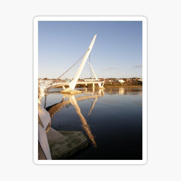 Peace Bridge , Over The River Foyle, Derry,Ireland Sticker
