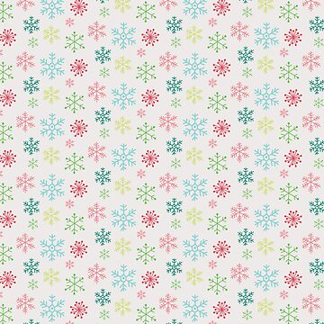Snowflakes falling by peggieprints
