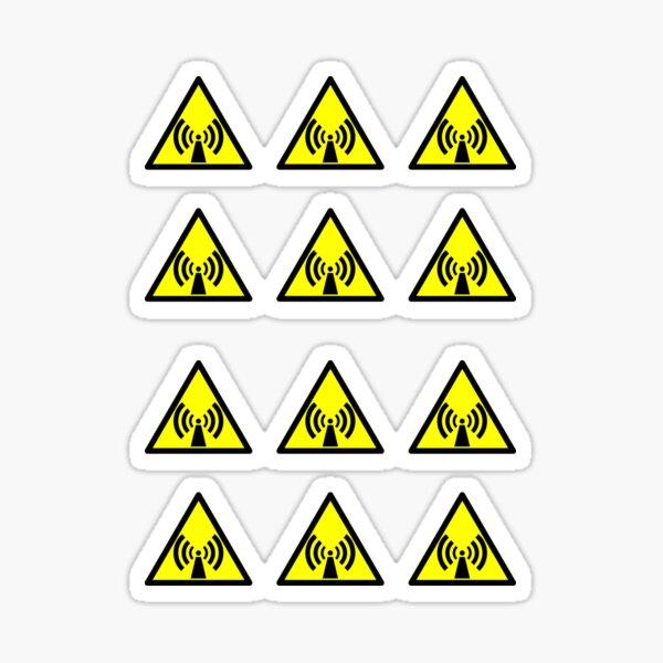 Warning Radio Frequency Sticker
