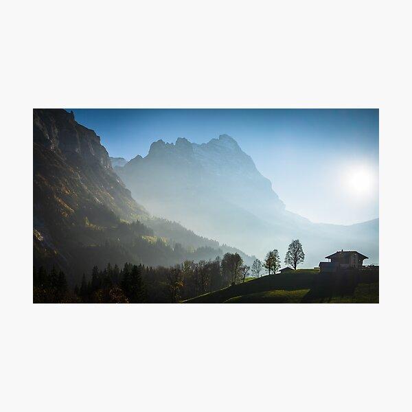 Eiger in autumn, Grindelwald, Switzerland Photographic Print