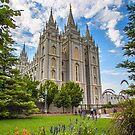 USA. Utah. Salt Lake City. Mormon Temple. by vadim19