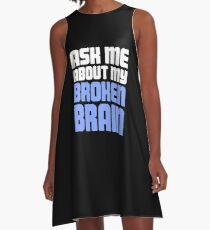 Head Injury Concussion Recovery Gift A-Line Dress