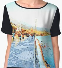 Seafront of Diamante Chiffon Top