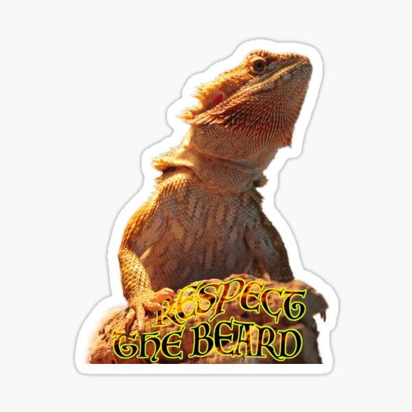 Bearded Dragon Lovers - Respect The Beard Sticker