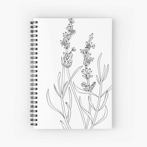 Lavendar Plant Outline Spiral Notebook