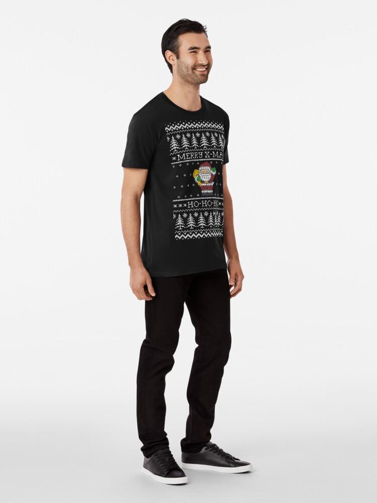 Vista alternativa de Camiseta premium Merry x-mas Ho-ho-ho!