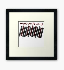 Woody Racing Bike + Car Framed Print