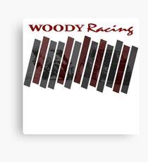 Woody Racing Bike + Car Canvas Print