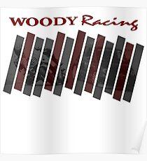 Woody Racing Bike + Car Poster