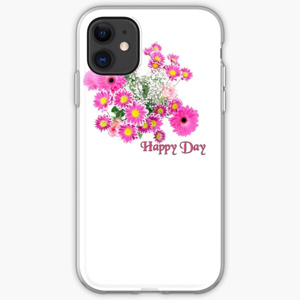 Happy Day Flowers iPhone Flexible Hülle