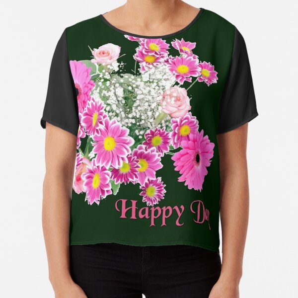 Happy Day Flowers Chiffon Top