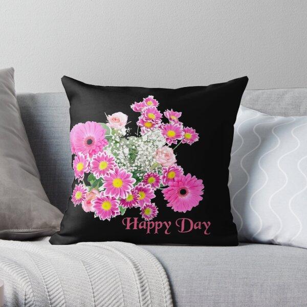 Happy Day Flowers Dekokissen