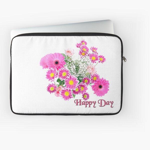 Happy Day Flowers Laptoptasche
