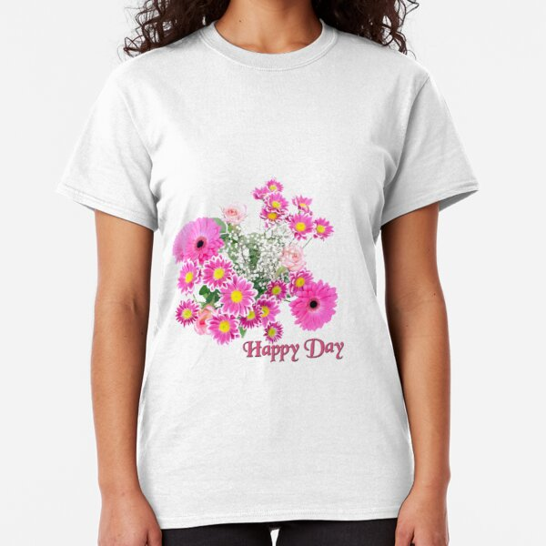 Happy Day Flowers Classic T-Shirt