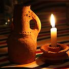 """""""Way back when...we ate our dinner by the light of a candle"""" by Christine Oakley"""