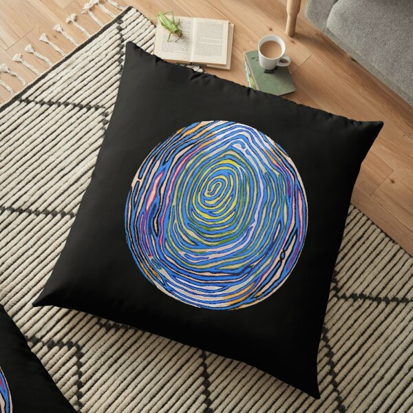 Whorld View Floor Pillow