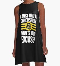 Funny Brain Injury Concussion Recovery Gift A-Line Dress