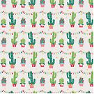 Christmas cactus party by peggieprints