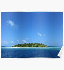an inspiring Maldives landscape Poster