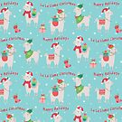 Christmas llamas IV by peggieprints