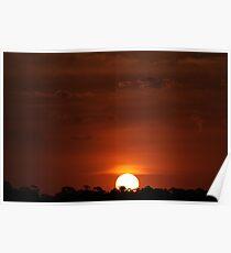 sunset serenity. Poster