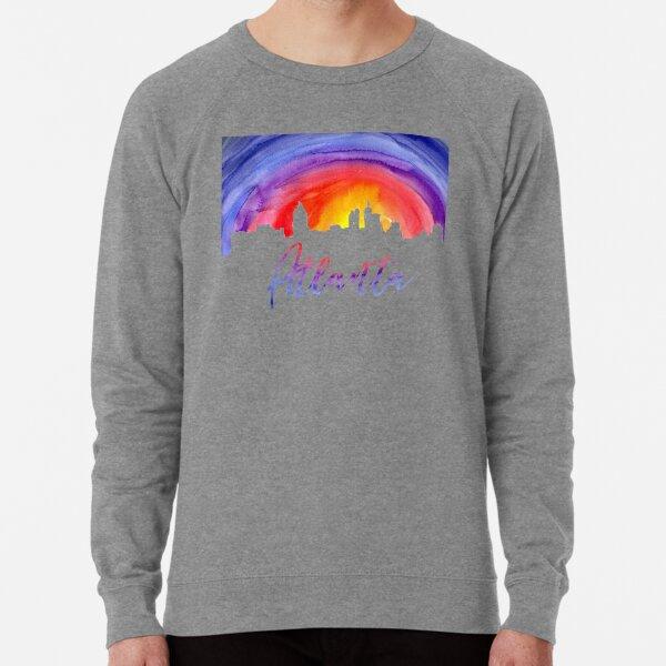 Atlanta Cityscape - Reverse Silhouette Lightweight Sweatshirt