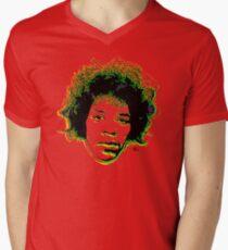 Psychedelic guitar god Men's V-Neck T-Shirt