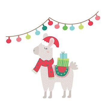 Christmas llamas V by peggieprints