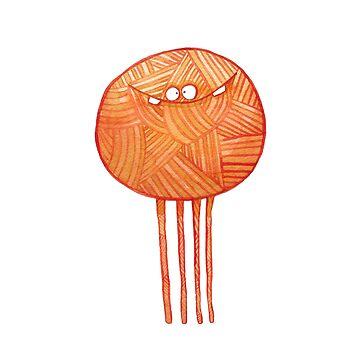 Poofy Orange Yarn by PoofyEmporium