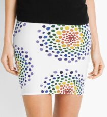 Circle Mosaic - Rainbow Mini Skirt