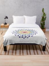 Circle Mosaic - Rainbow Throw Blanket