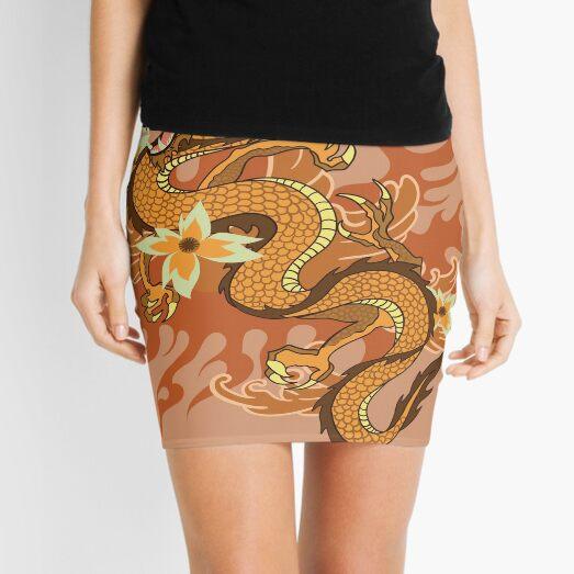 Japanese Dragon Art Mini Skirt