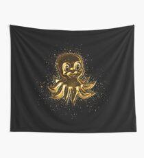 Animal cartoon golden Gold Wall Tapestry
