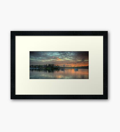 Serenity - Newport,Sydney - The HDR Experience Framed Print