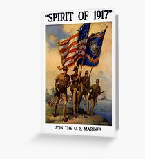 Join The US Marines -- Spirit Of 1917 Greeting Card