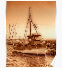 Fisher Boat Poster