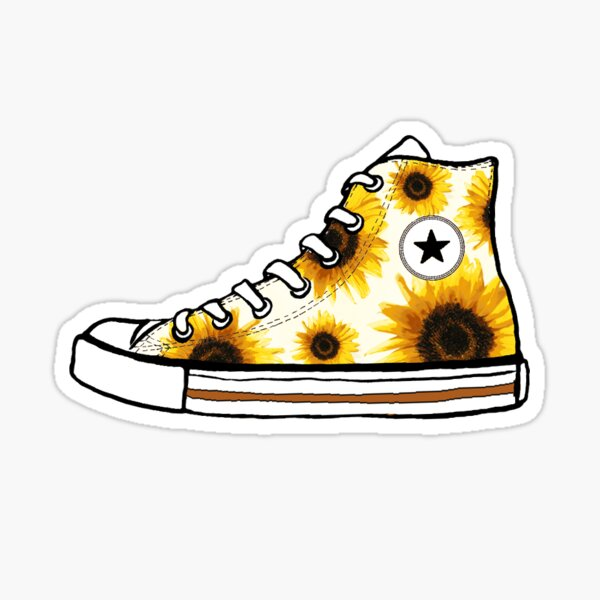 Sunflower Converse Sticker