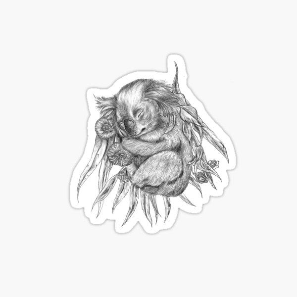 KOALA AND EUCALYPTUS Sticker